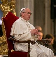 Roma, 05-04-2013. Il Santo Rosario presieduto da Sua Santita' Papa Francesco nella Basilica di Santa Maria Maggiore.