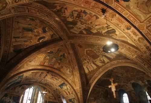 1 Teto da Basilica inferior - Assis